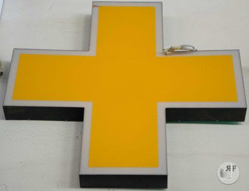 Noleggio insegna farmacia gialla