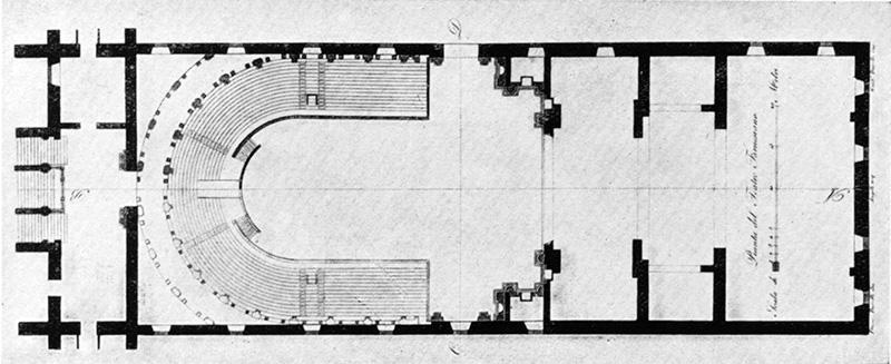 Teatro Farnese a Parma: planimetria