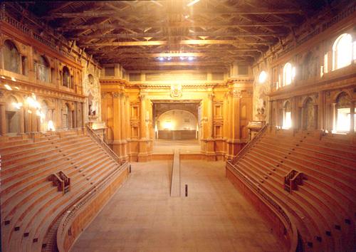 Teatro Farnese a Parma: struttura gradonata