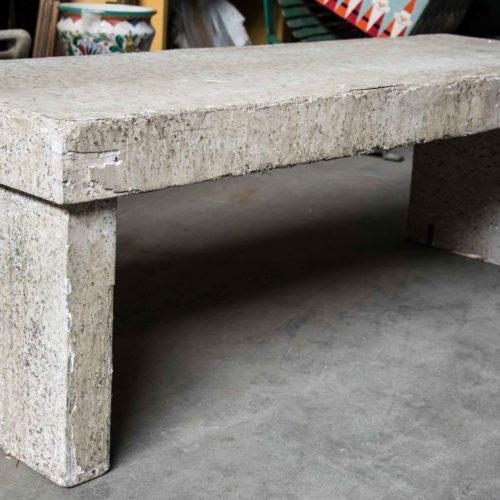 Noleggio panchina finto cemento