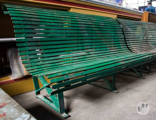 Noleggio panchina verde esterno