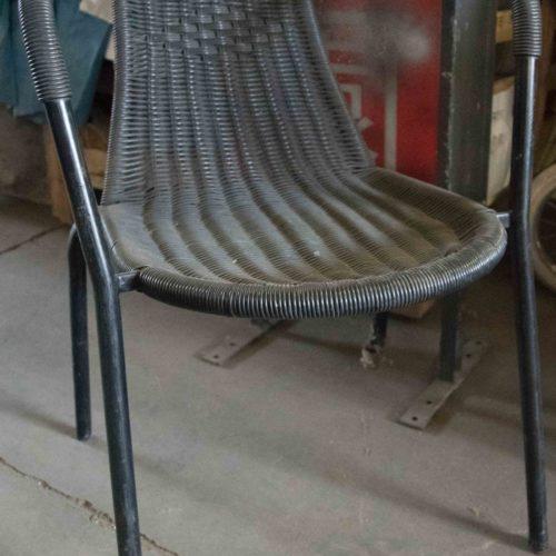 Noleggio sedia vimini nera