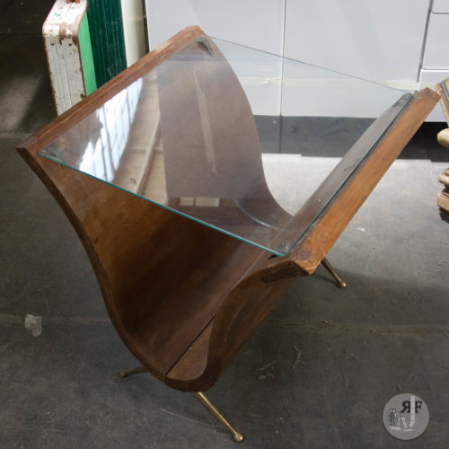 Noleggio tavolino vetro e legno