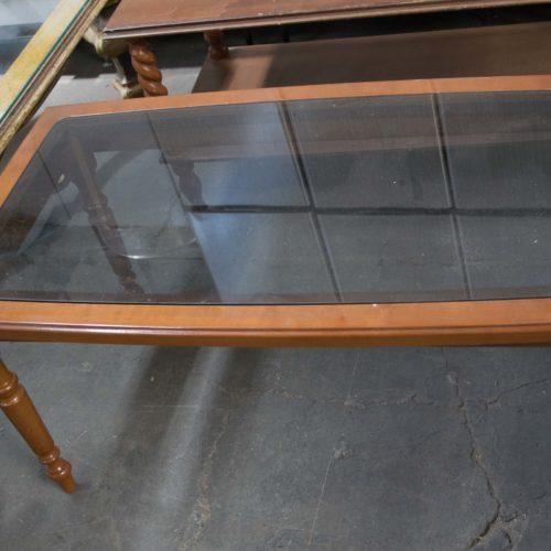 Noleggio tavolo rettangolare vetro
