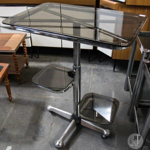 Noleggio tavolino acciaio e vetro