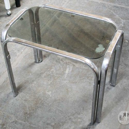 Noleggio tavolini acciaio e vetro