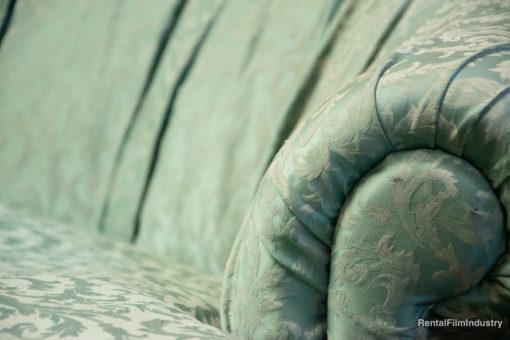 Divano barocco verde Tiffany dettaglio