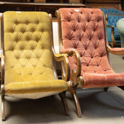 Poltroncine vintage a due colori