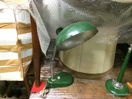 Lampada da tavolo verde in metallo