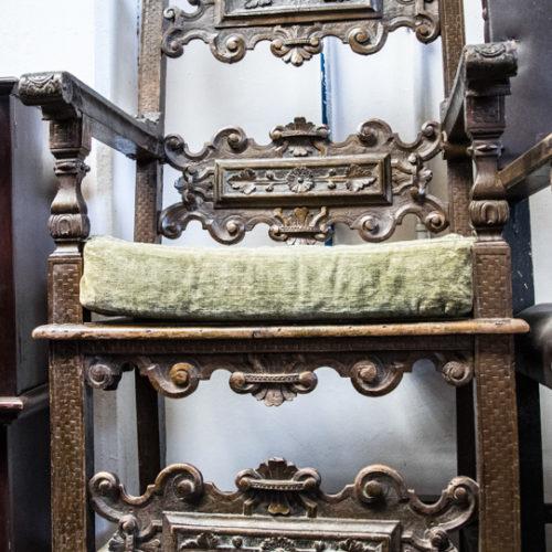 Sedia in legno lavorato Barocco