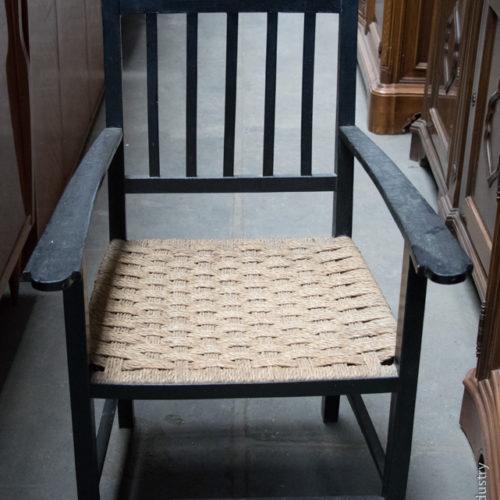 Sedia in legno e vimini