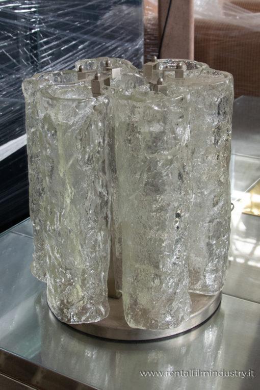 Lampada da tavolo in vetro anni '70