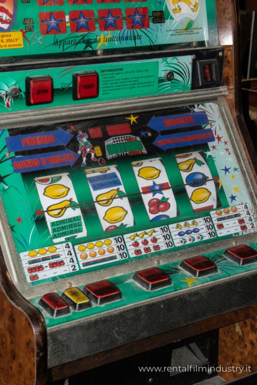 Slot machine anni '80 dettaglio