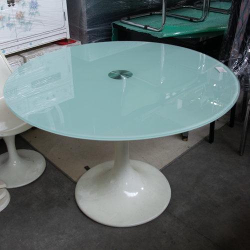 Tavolo tondo in vetro anni '70