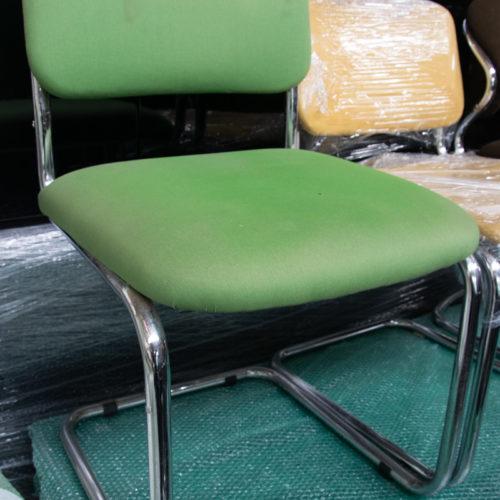 Sedia da ufficio in tessuto verde '70/'80 moderna