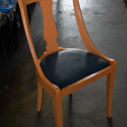 Sedie in pelle e legno in vari colori anni '50-'60