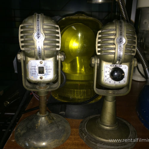 Microfoni radiofonici vintage x2