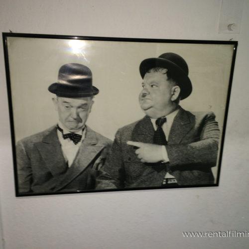 Quadri da arredamento interno vintage con attori Stanlio e Ollio