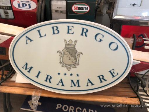 Insegna albergo Miramare